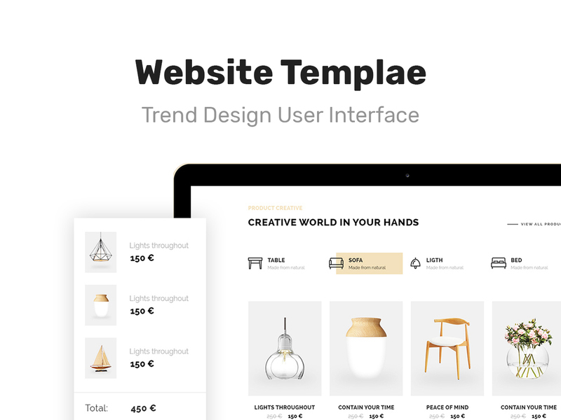 M989 Website Template Design UI Kit