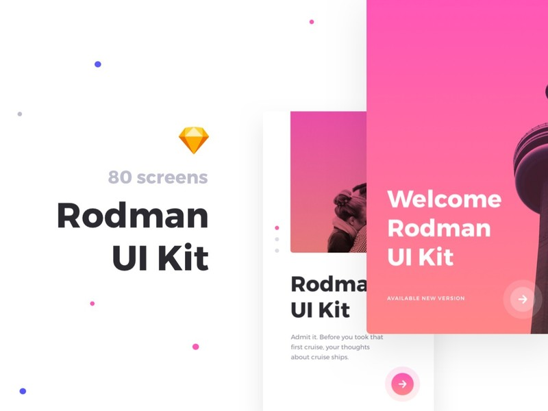 Rodman Mobile UI Kit preview picture