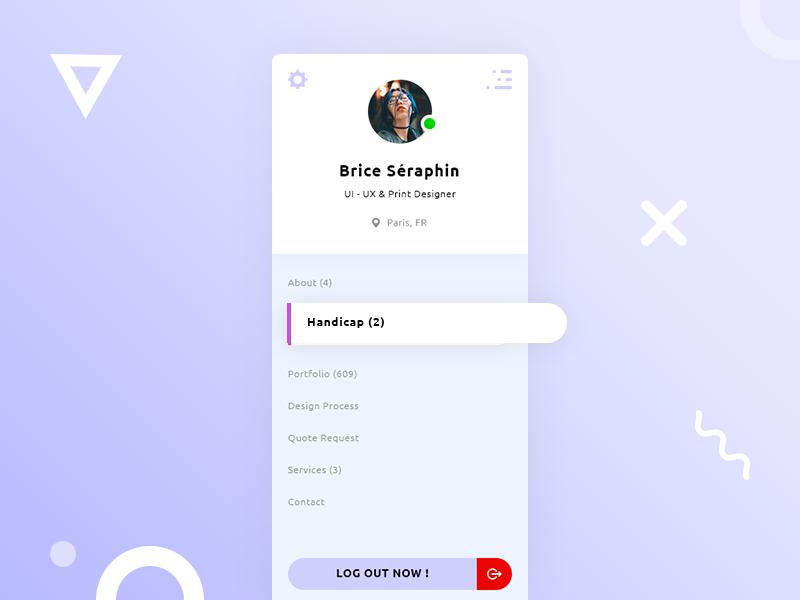 Nav / Menu UI Design preview picture