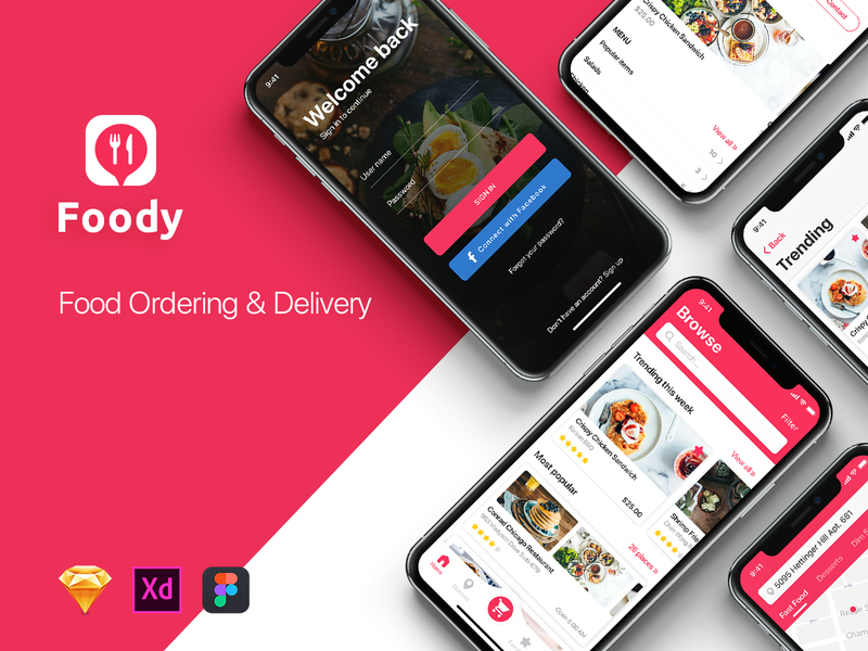 Foody Mobile App UI Kit preview picture
