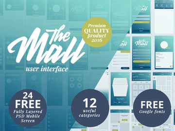 The Mall Mobile UI Kit [PSD]