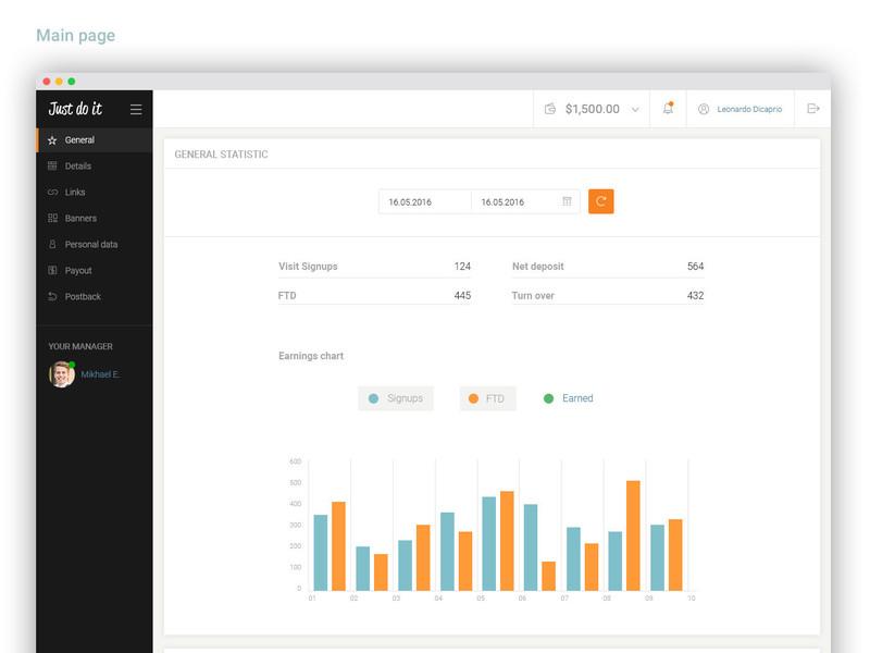 UI Kit Dashboard PSD