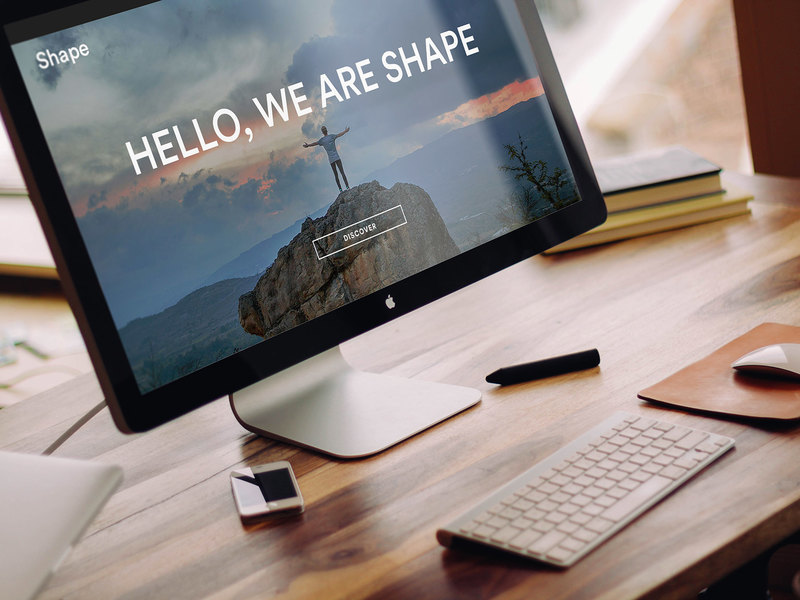 Shape: Homepage UI kit [PSD]