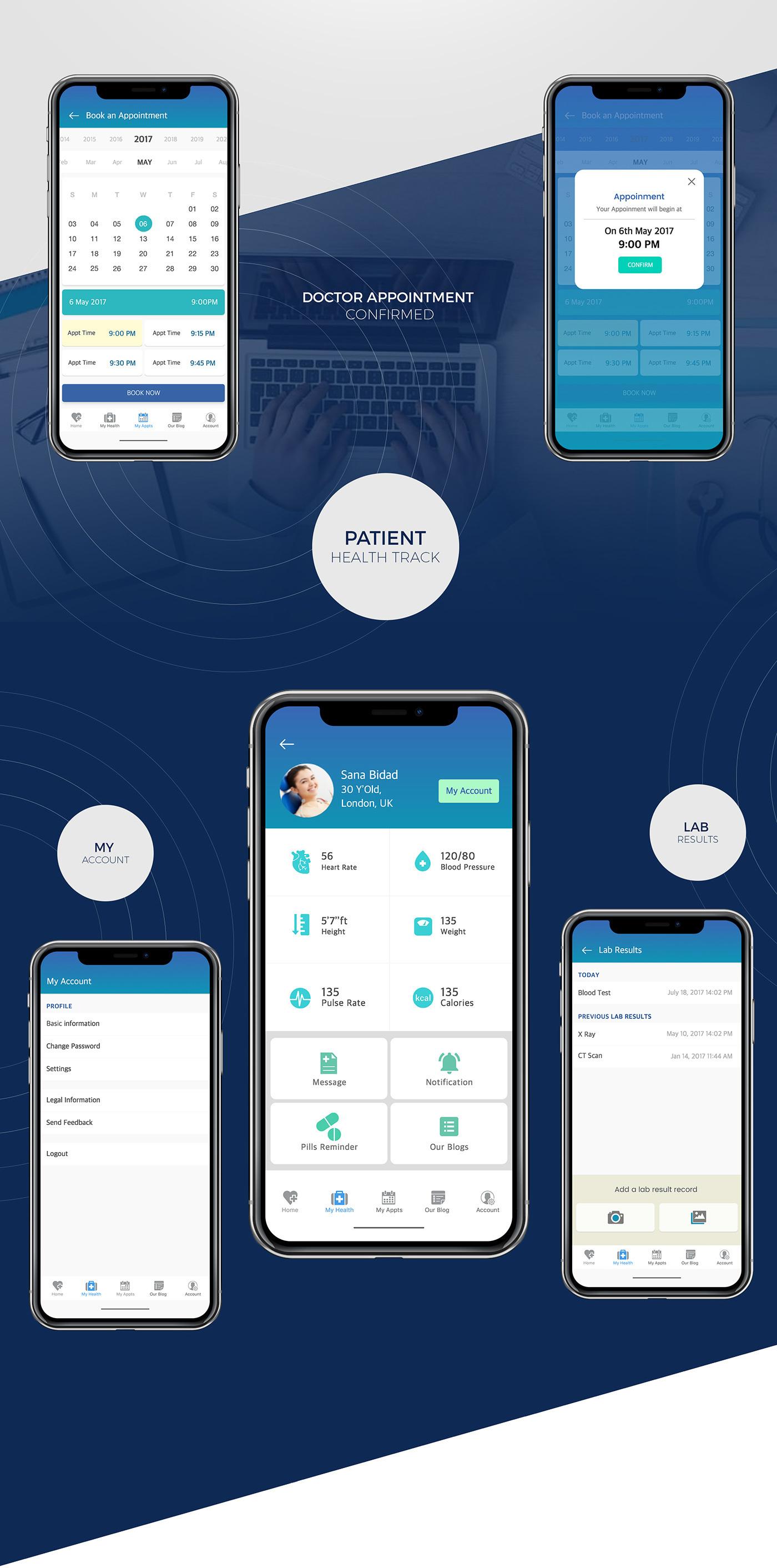 Docare iOS MobileApp UI kit