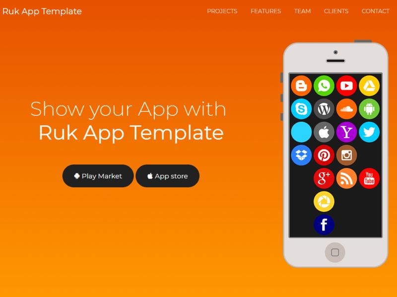 Ruk App Landing Template