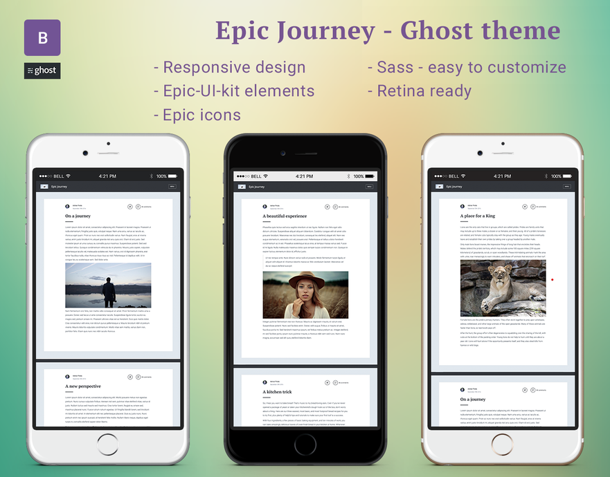 Epic-Journey Ghost theme