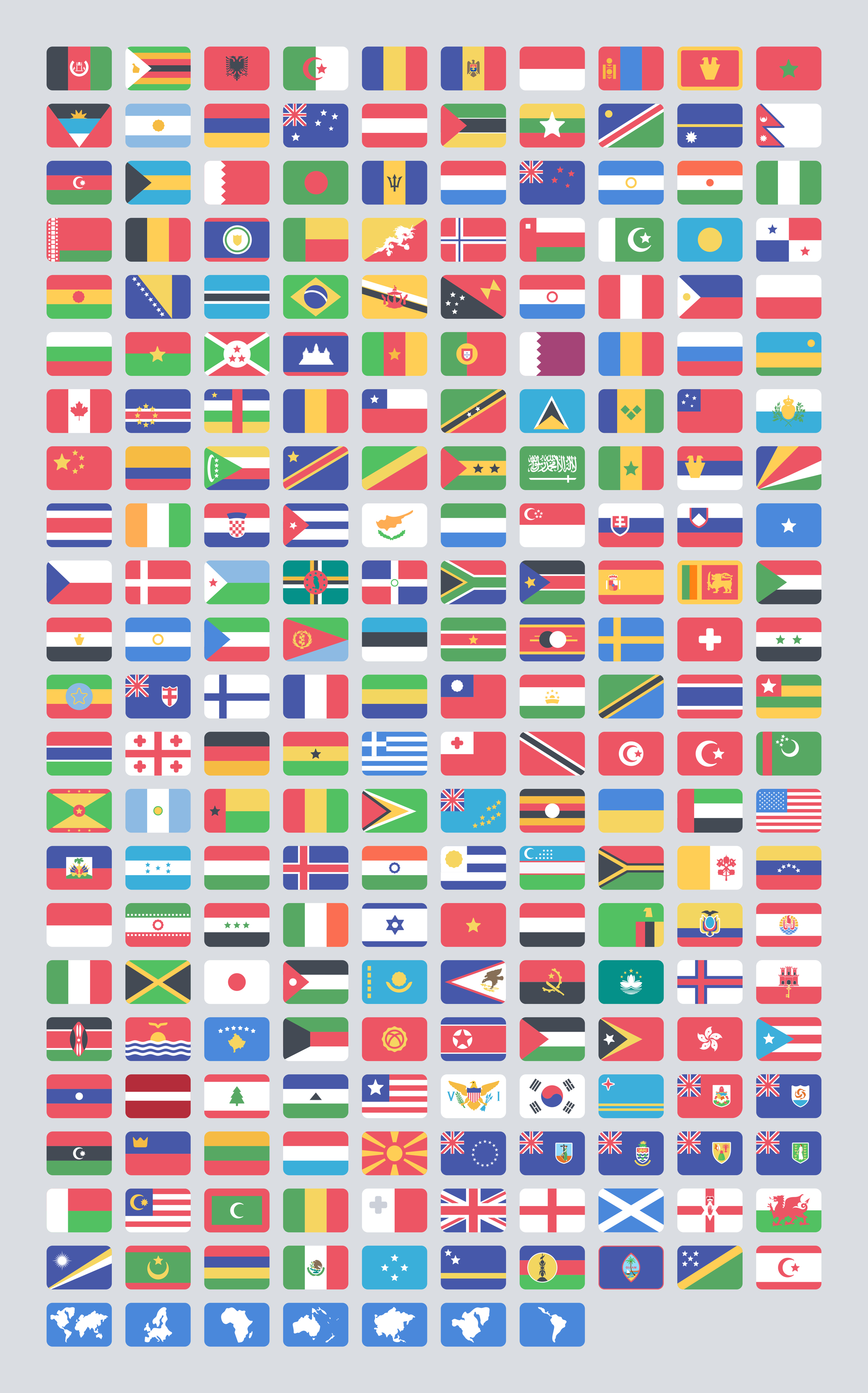 Flat Flags Freebie