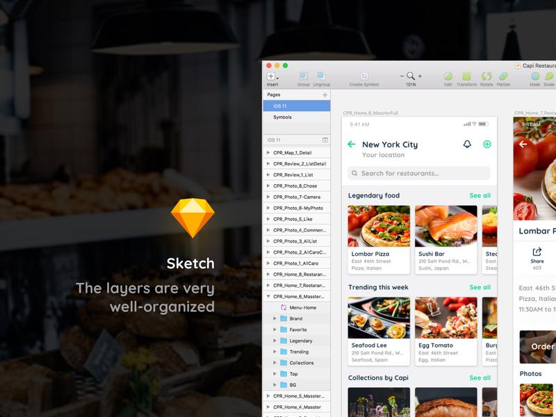 Capi Restaurant iOS UI Kit