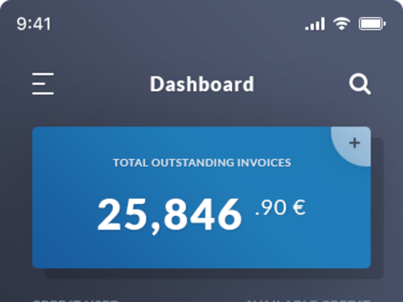 Dasboard & Clear Invoices