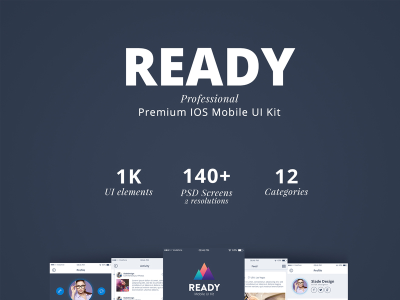 Ready Professional IOS Mobile UI Kit preview picture