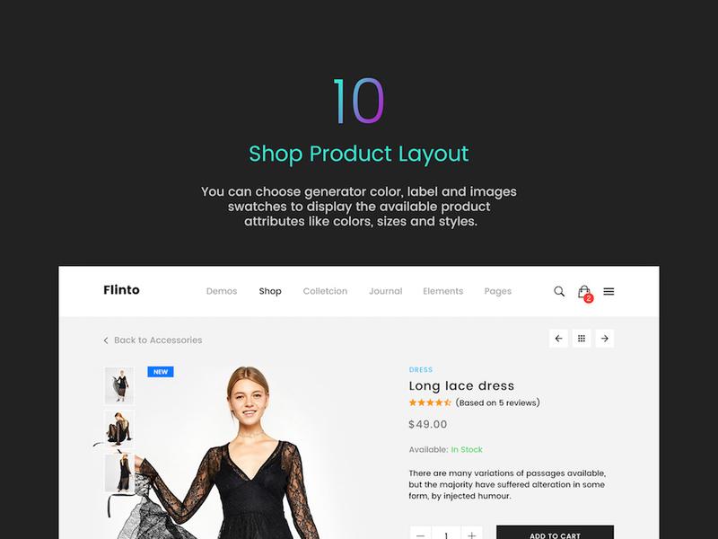 FLINTO – eCommerce PSD Template