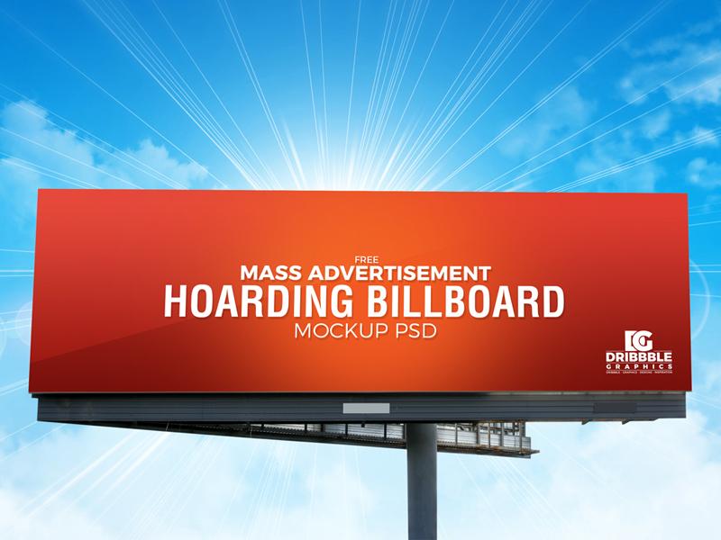 Outdoor Mass Advertisemen Billboard Mockup