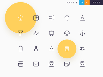 Davi Icons Free Kit - 150 icons