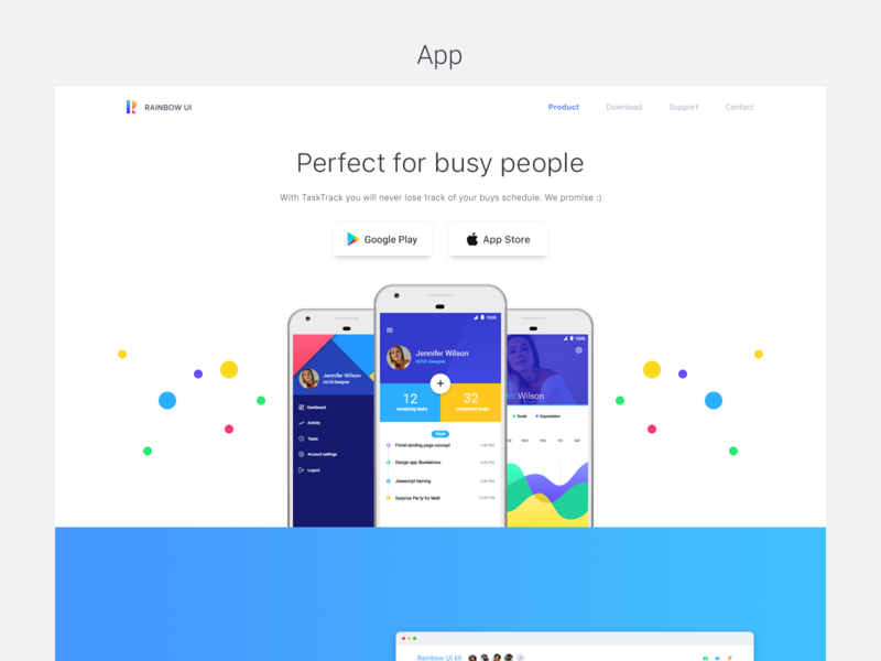 Epic Rainbow UI Kit Sketch + PSD