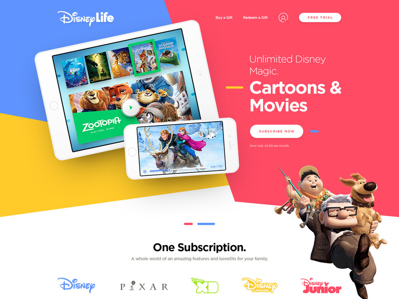 Disney Life - Free PSD