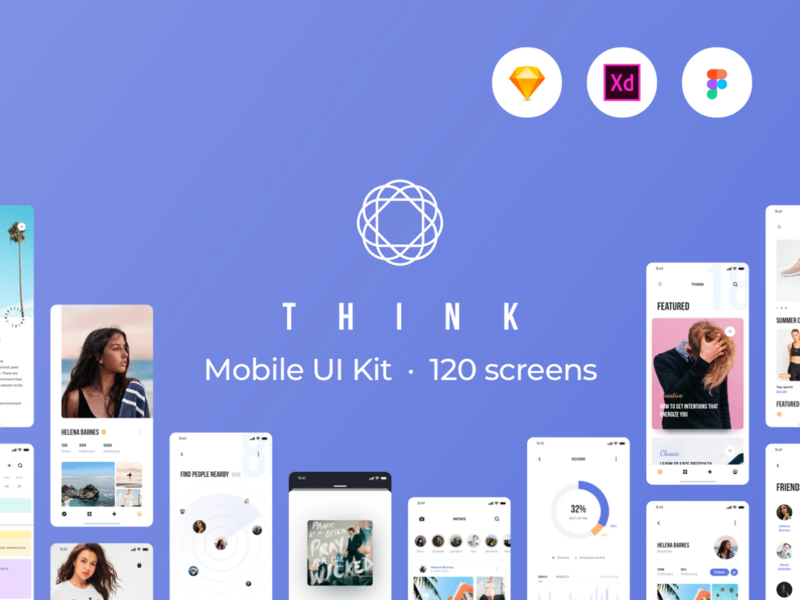 Think Mobile UI Kit preview picture