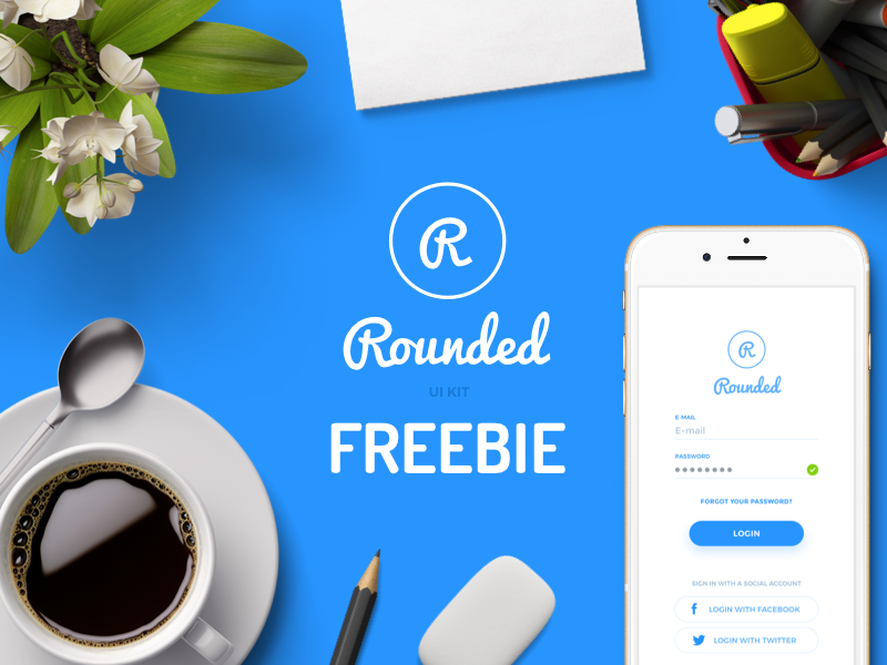 Rounded UI kit Freebie preview picture
