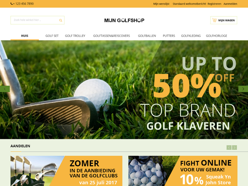 Magento E-Commerce page template