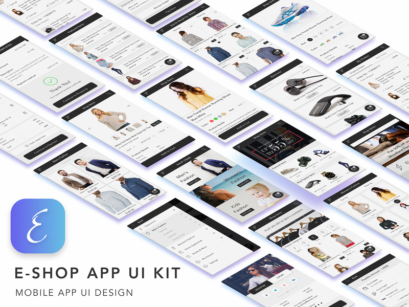 E Shop eCommerce UI Kit preview picture