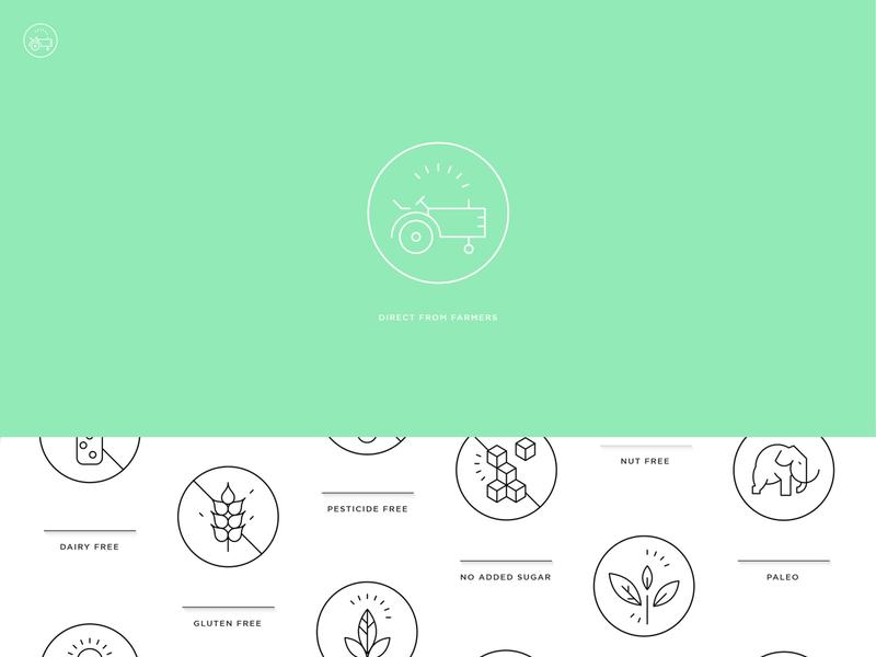 Icons - fair trade, organic & charitable