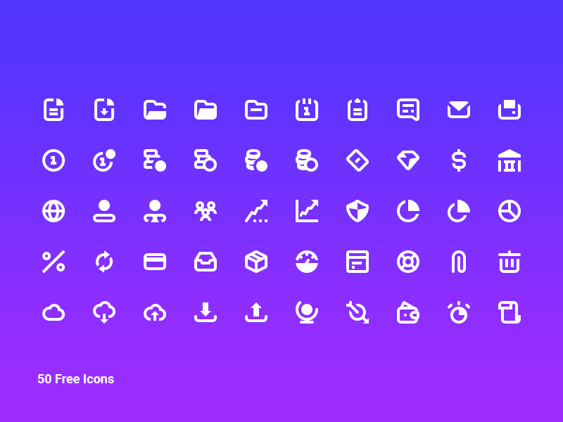 50 Free Business Icon Pack preview picture