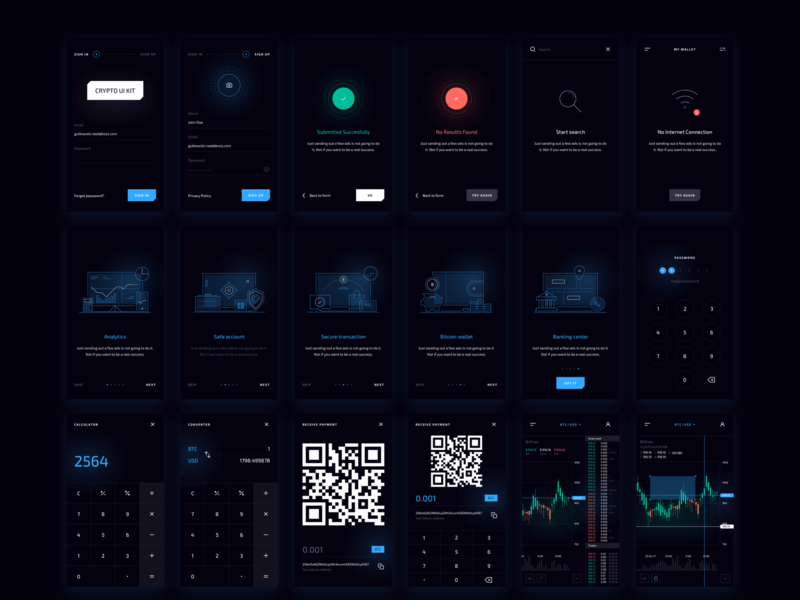Crypto Mobile UI Kit preview picture