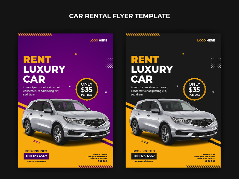 Rent Car Flyer Template By Shakilazuleka Epicpxls