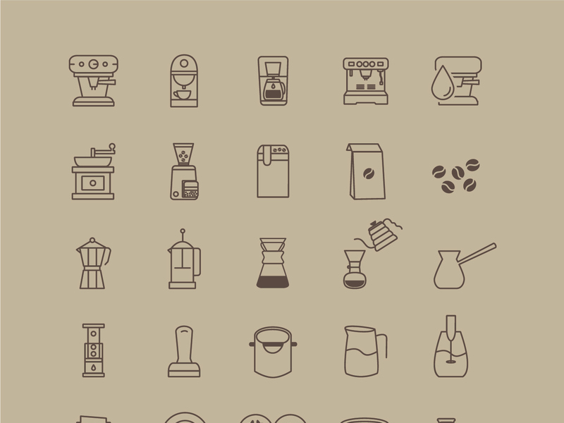 Coffeeshop Icon Set [AI] preview picture