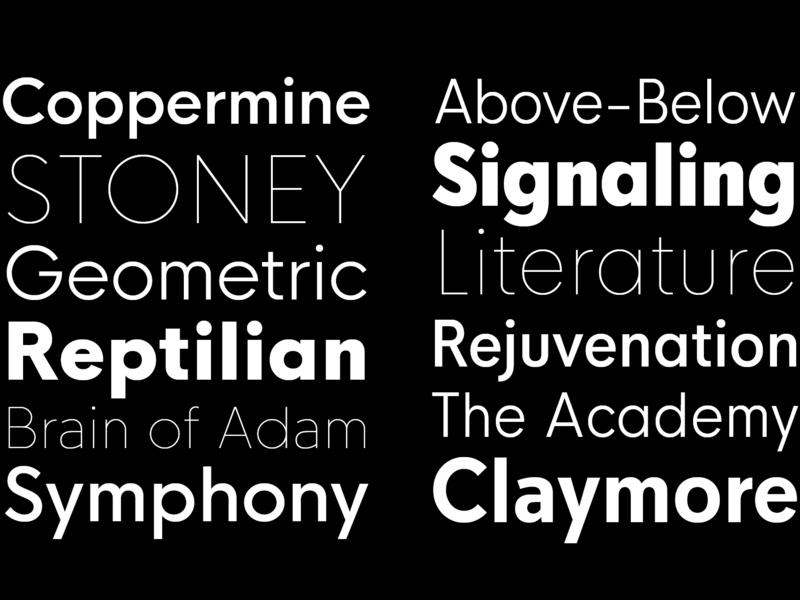 HK Nova Typeface