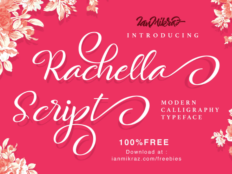 Rachella Script Free Typeface preview picture