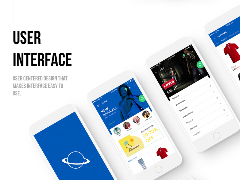 The Universe E-commerce Mobile UI kit