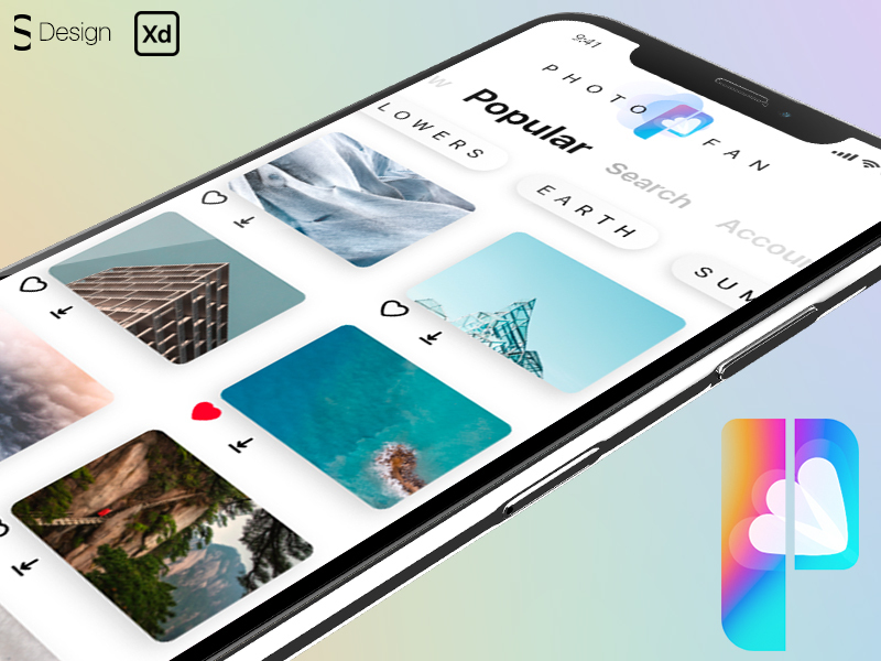 Photostock mobile app concept preview picture