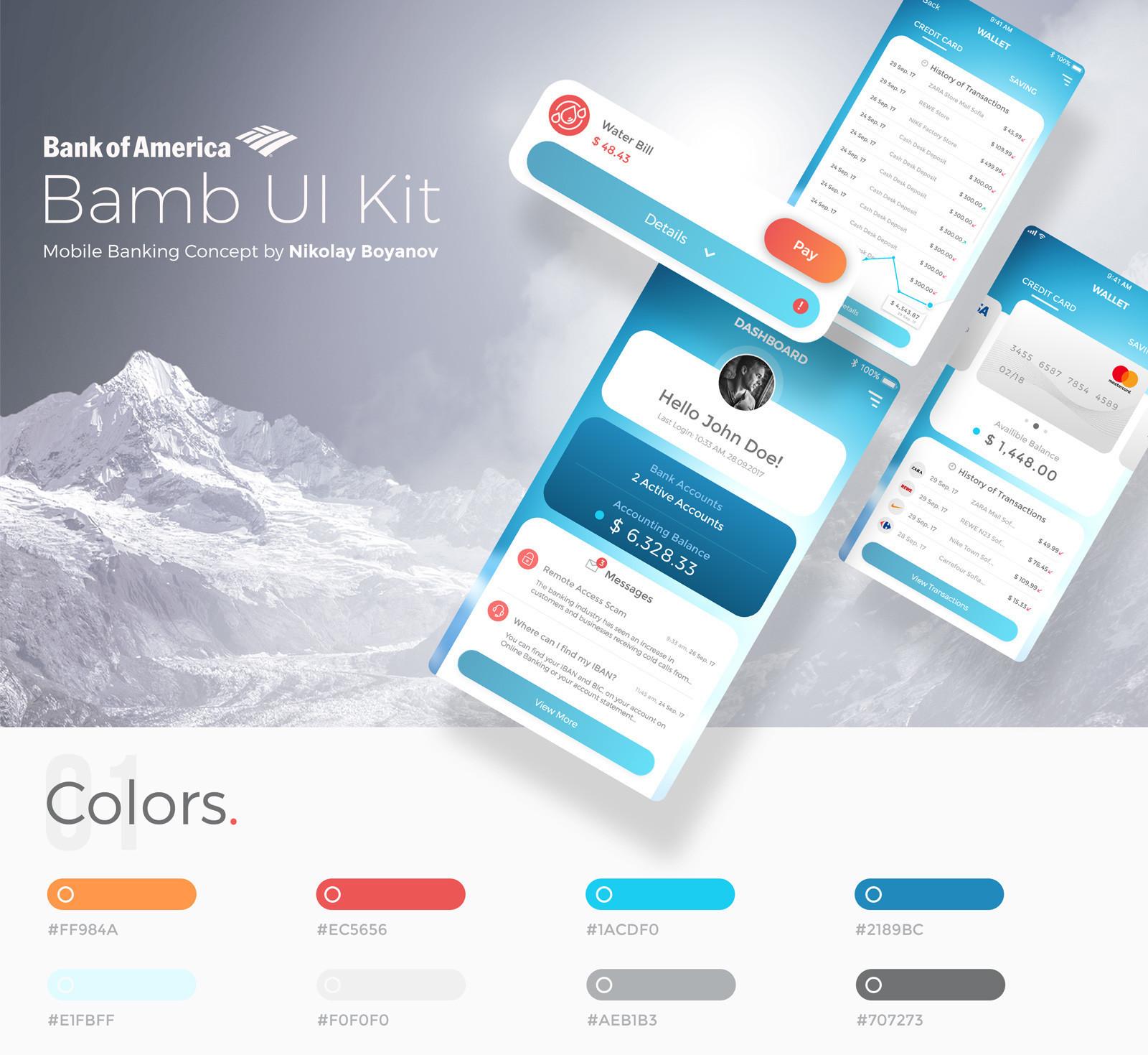 Bamb Free UI Kit