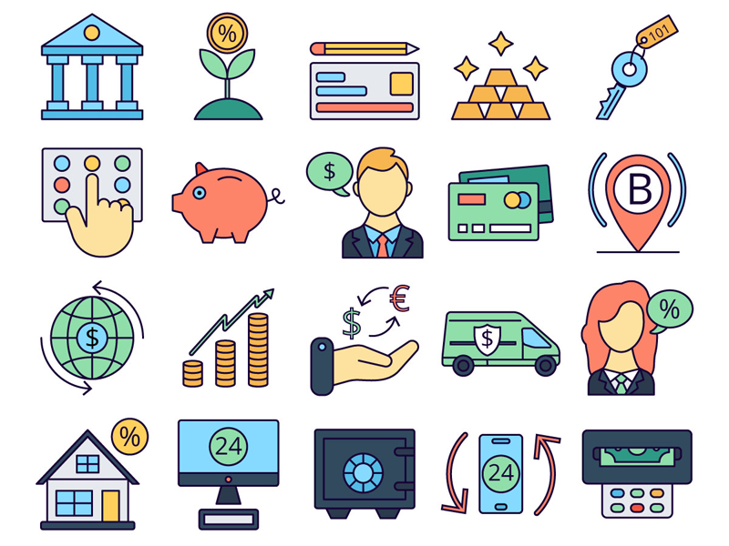 Banking Vector Freebie Icon Set preview picture