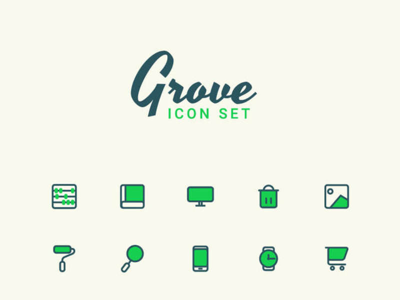 Grove - Free Vector Icon Set