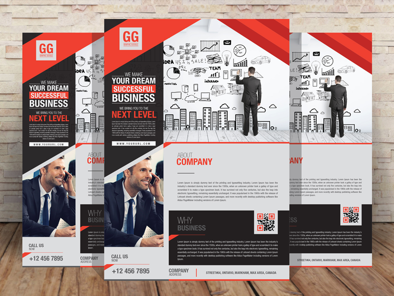 Business Flyer Design Template [AI] preview picture
