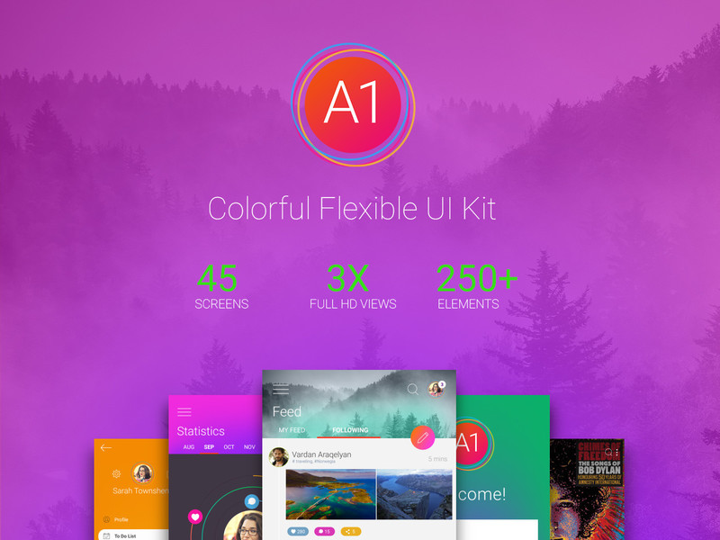 A1 Free UI Kit preview picture