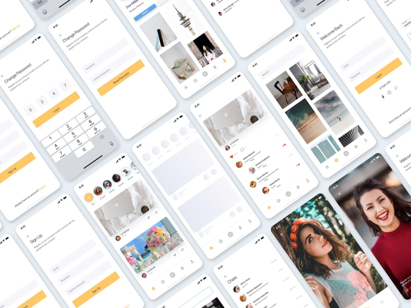 Ainos Social App UI/UX Kit