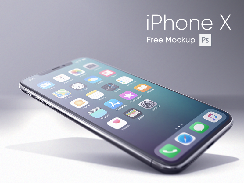iPhone X Realistic Mockup preview picture