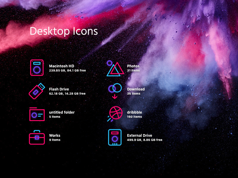 Desktop Icons preview picture