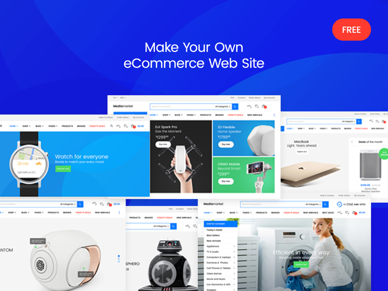 Mediamarket – FREE Electronics eCommerce PSD Template preview picture