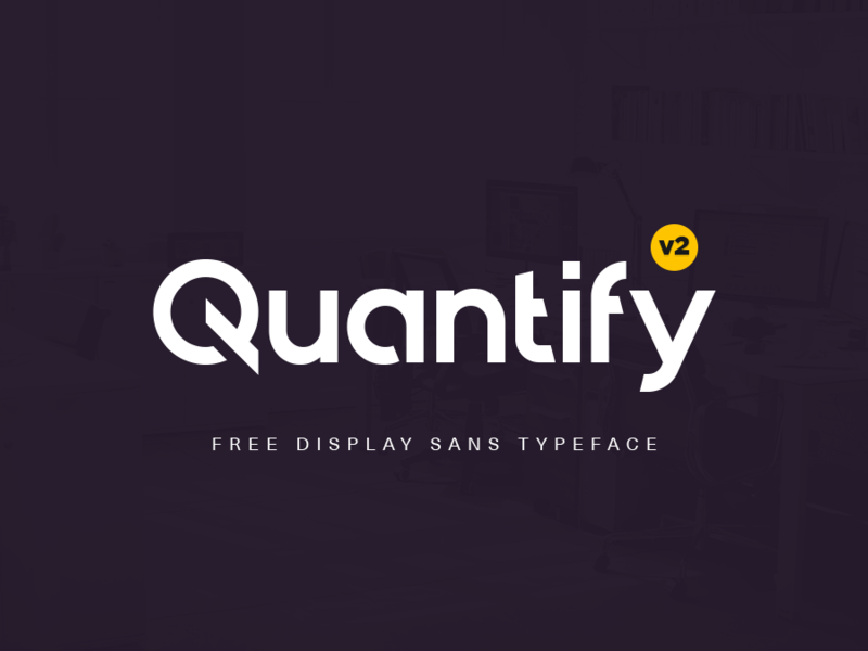 Quantify v2 Free Typeface preview picture