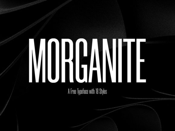 Morganite: Free condensed fonts in 18 styles
