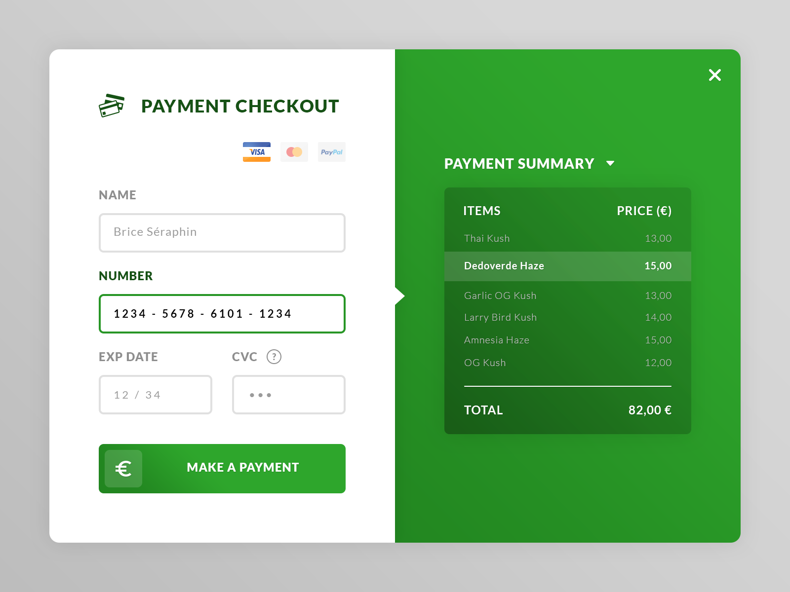 Payment Checkout UI