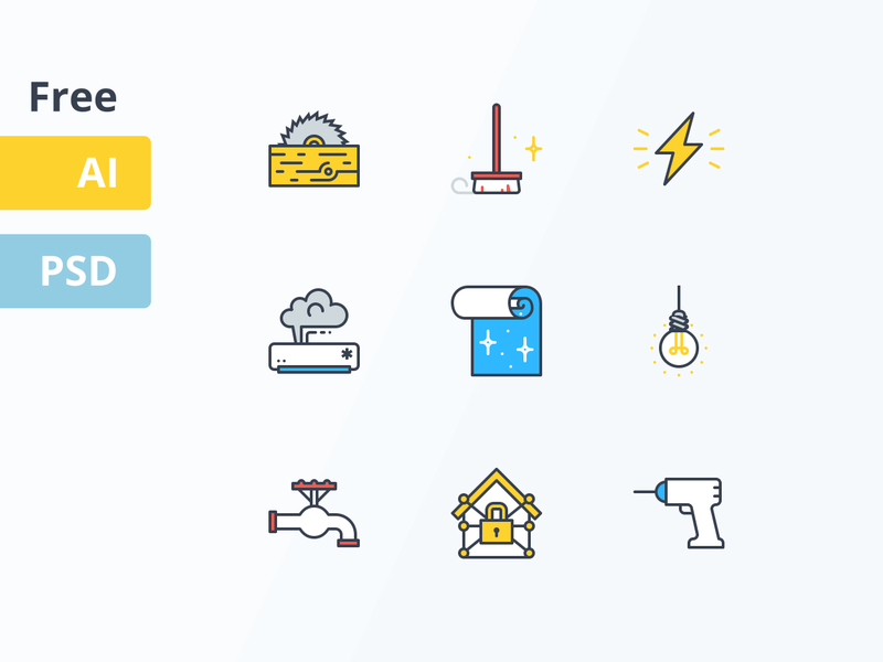 Free Home Service Icons preview picture