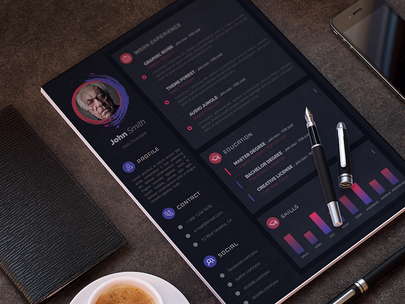 Modern Resume / CV Template [PSD] preview picture
