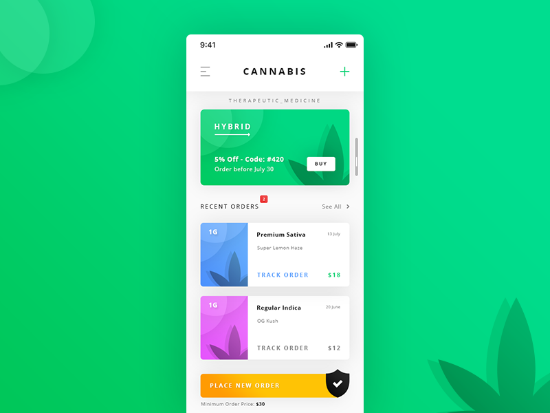Cannabis Dashboard App preview picture