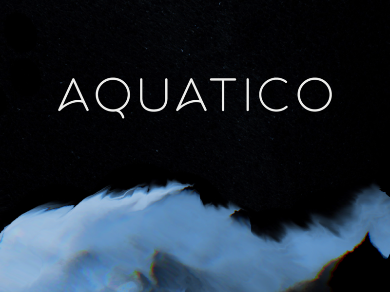 Aquatico - Free Typeface preview picture