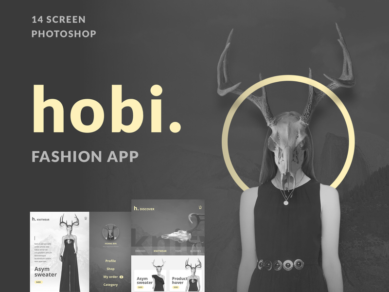 Hobi Fashion App Design preview picture