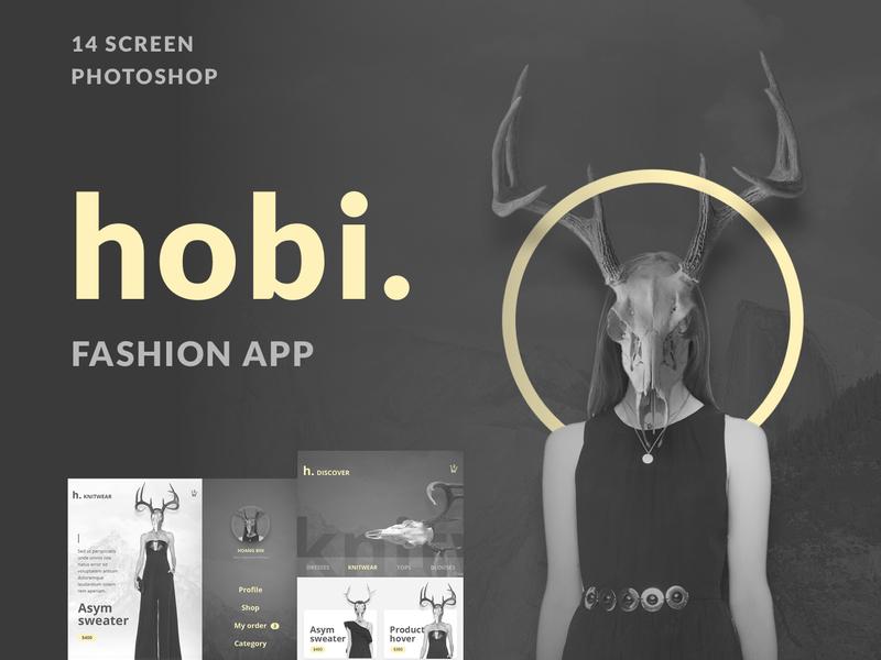 Hobi Fashion App Design preview picture